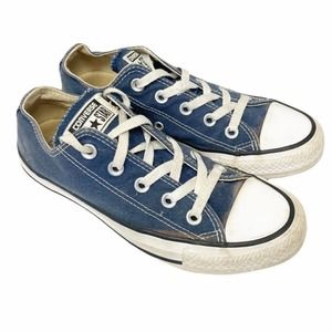 Converse all star navy blue low top sneakers
